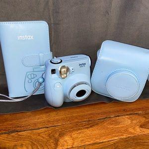 New Blue Polaroid Camera with Case and Photo Album